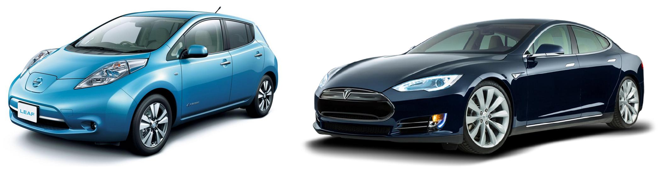 Tesla Nissan Leaf